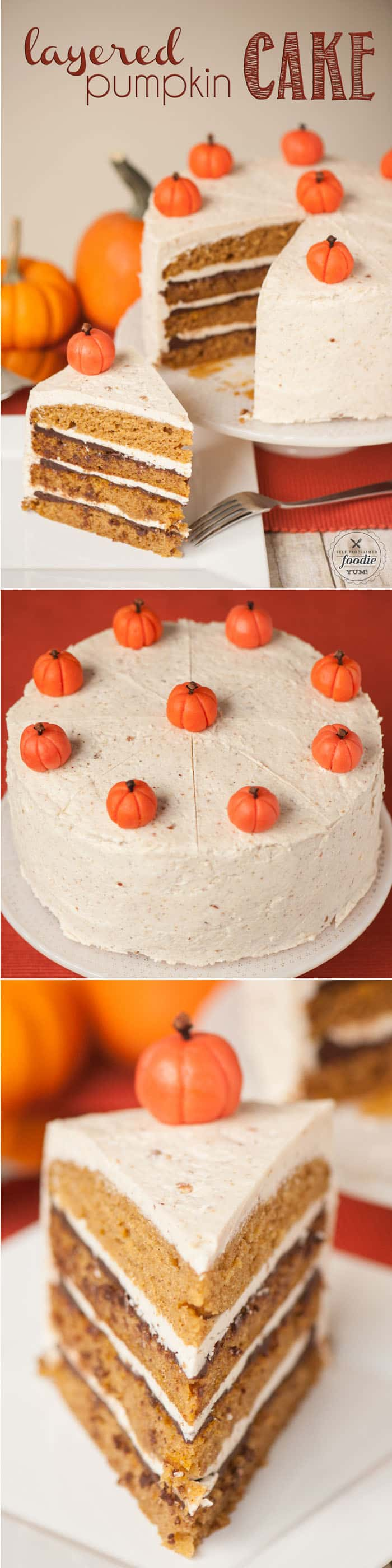 Layered Pumpkin Cake | Self Proclaimed Foodie