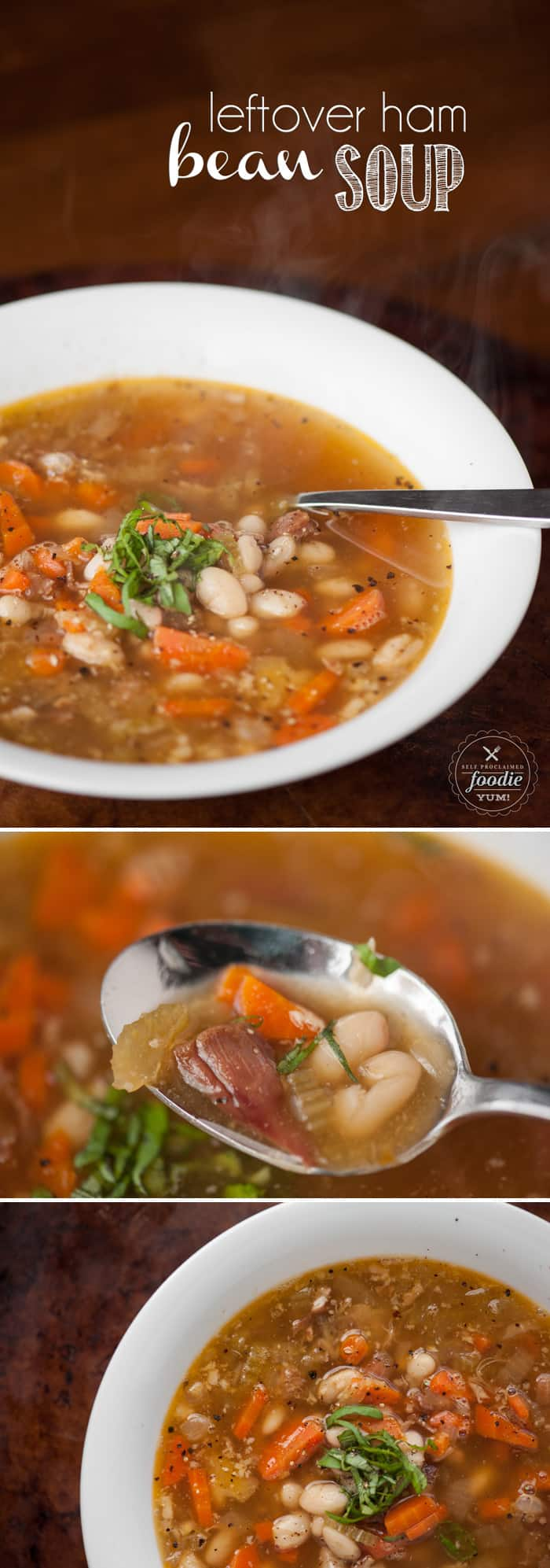 Leftover Ham Bean Soup is the easiest and most flavorful soup your family will love made with a rich broth in the slow cooker from your holiday ham bone. Leftover Ham Bean Soup is the easiest and most flavorful soup your family will love made with a rich broth in the slow cooker from your holiday ham bone.