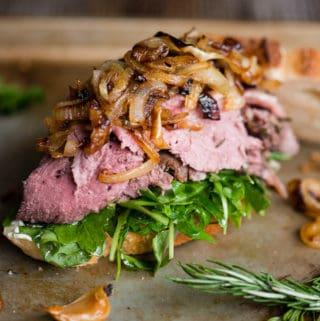 Leftover Prime Rib Sandwich