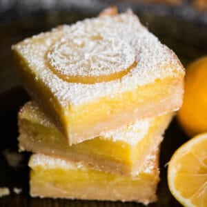 stack of homemade lemon bars