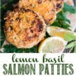 Recipe for parmesan crusted lemon basil salmon patties