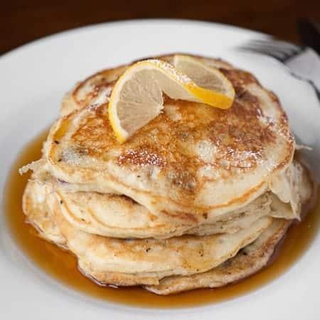 Lemon Blueberry Buttermilk Pancakes