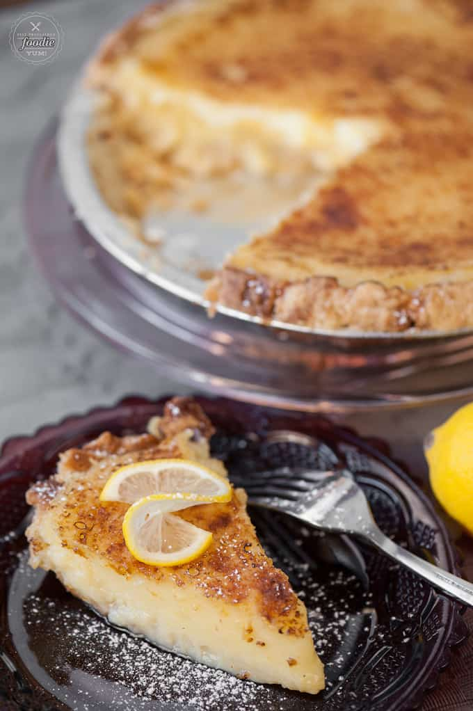 Imagine combining the best parts of lemon meringue pie and creme brulee. The result would be this mouthwatering Lemon Brulee Pie - a perfect dessert.