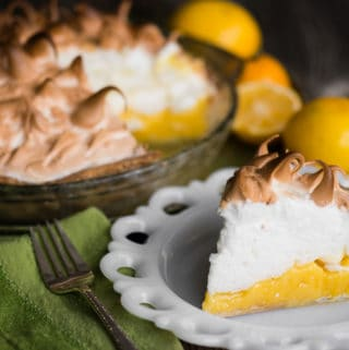 Lemon Meringue Pie is made with a flaky all-butter crust, a creamy and tart lemon filling, and a light meringue topping. It is a fantastic citrus dessert that is a real treat because it is a three-step recipe that takes time, care, and technique. The result is a mouth watering pie that looks and tastes amazing!