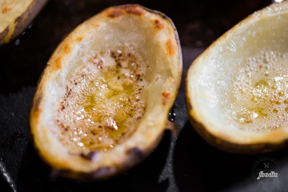 How to make potato skins crispy