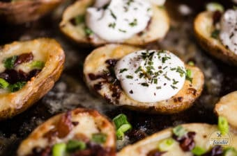 Step by step instructions on how to make Loaded Potato Skins