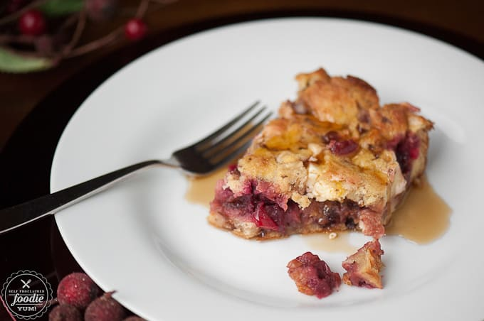 Make Ahead Cranberry Stuffed French Toast   Self Proclaimed Foodie