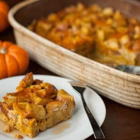 Make Ahead Stuffed Pumpkin Spice French Toast