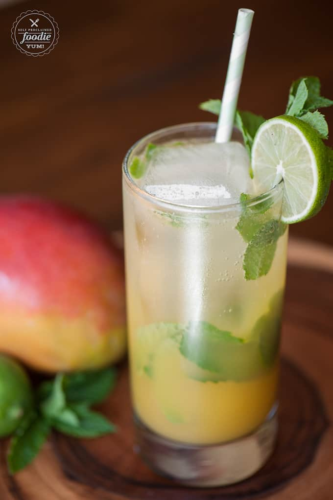 This Mango Mint Mojito cocktail, made with silver tequila, mango juice, lime, and fresh mint, is simple to make as well as perfectly sweet and refreshing.