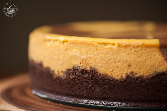 Marbled Chocolate Pumpkin Cheesecake | Self Proclaimed Foodie