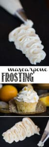Mascarpone Frosting is simply the very best tasting, easy to make, and perfectly sweet frosting. Just a few simple ingredients whipped together create a lusciously smooth creamy frosting that is so easy to work with. It is stable and holds its shape at room temperature and remains soft when refrigerated.