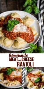Recipe for homemade Meat and Cheese Ravioli with filling