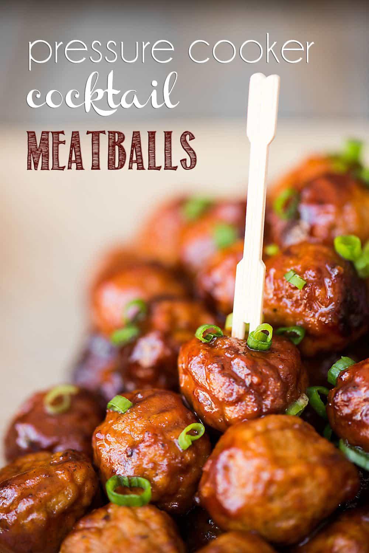 pressure cooker cocktail meatballs