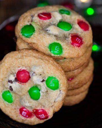M&M Cookies christmas cookies