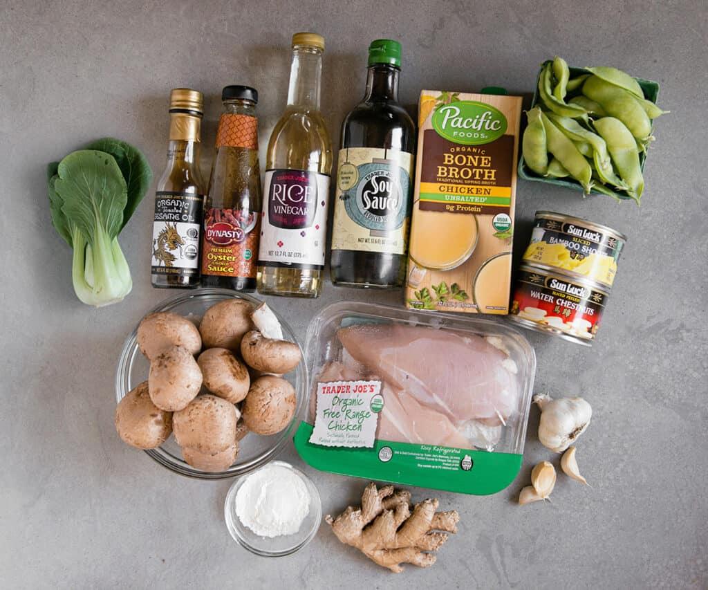 ingredients needed to make Moo Goo Gai Pan