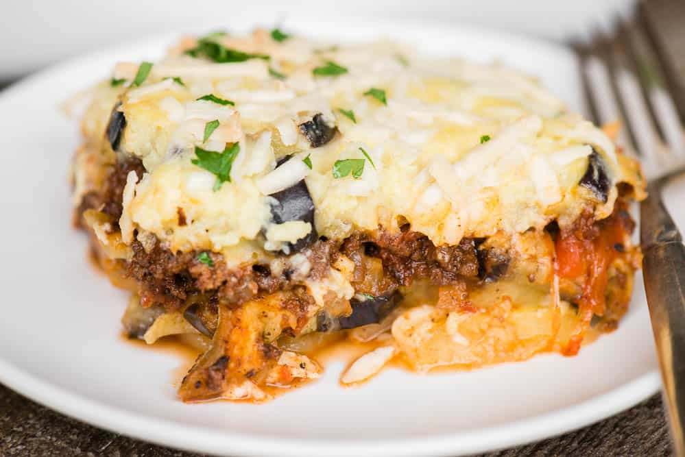 moussaka on plate