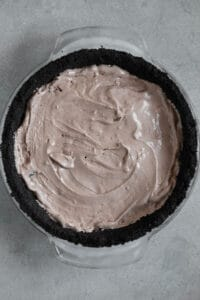 mudslide ice cream in chocolate crumb crust