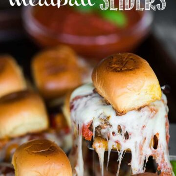 Mushroom Blend Meatball Sliders, with a perfect blend of ground beef and mushrooms, held together by a tasty potato roll, make the best tailgating recipe!