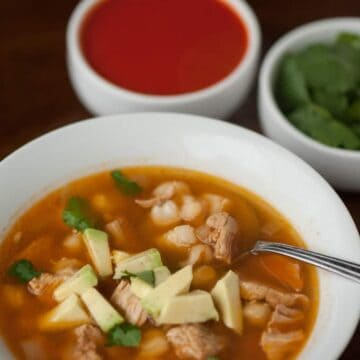 This New Mexican Posolé is a spicy, hearty, filling low carb stew filled with fiber and protein that tastes great and will make you feel fantastic.