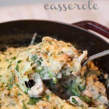 one pot cheesy broccoli rice casserole