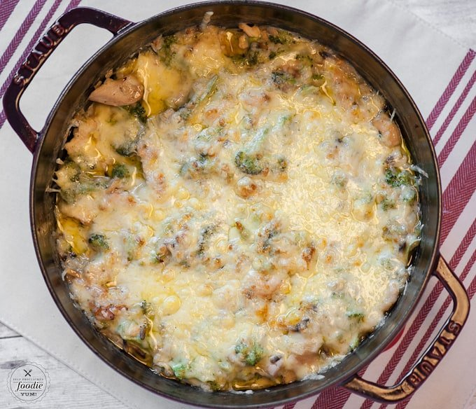 This One Pot Cheesy Chicken Broccoli Rice Casserole not only makes the perfect family dinner, but its also quick, healthy and delicious comfort food!