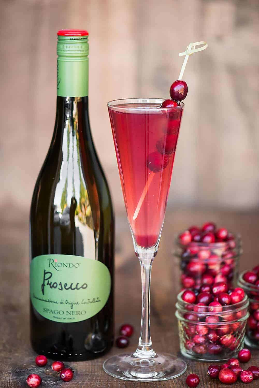 Orange Cranberry Prosecco single serving cocktail
