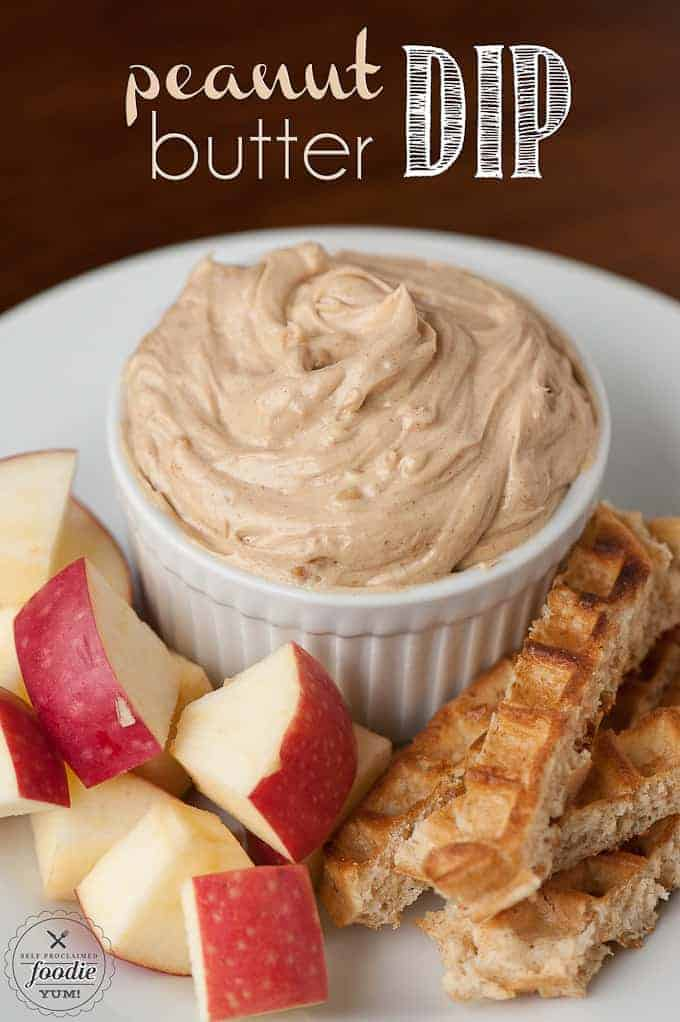 Peanut Butter Dip - Self Proclaimed Foodie