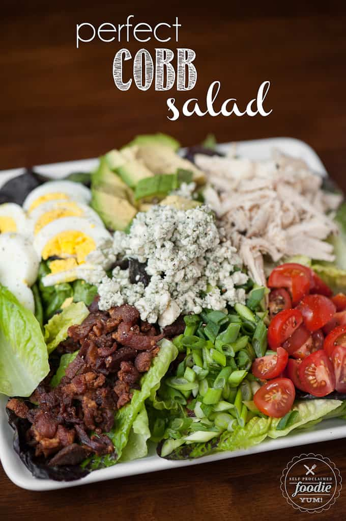 This easy to make Perfect Cobb Salad has everything you want in a delicious summer salad including lots of greens, protein, and bacon!