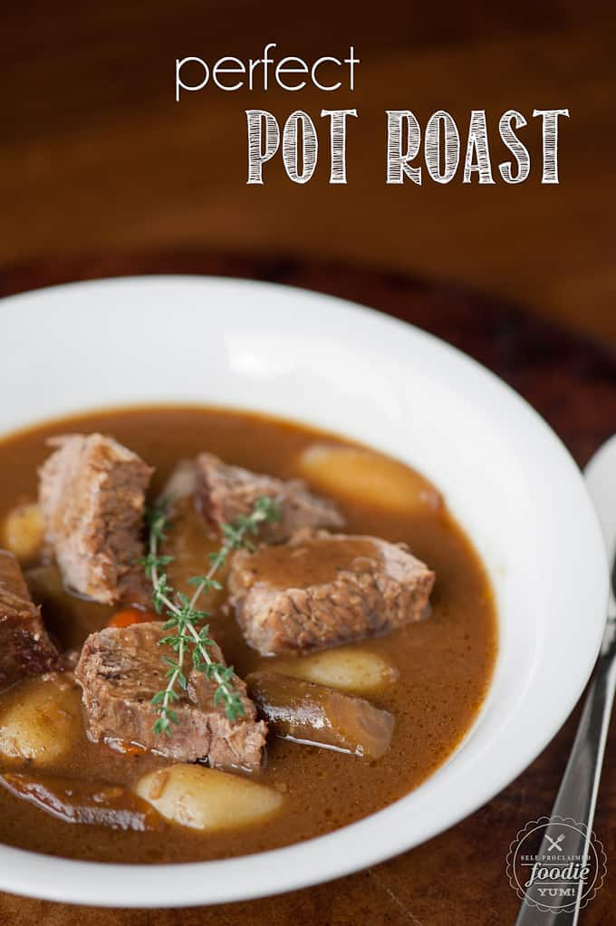 bowl of homemade pot roast