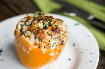 Philly Cheesesteak Stuffed Peppers basically combine all of your favorite Philly Cheesesteak flavors in one easy to make low carb meal.