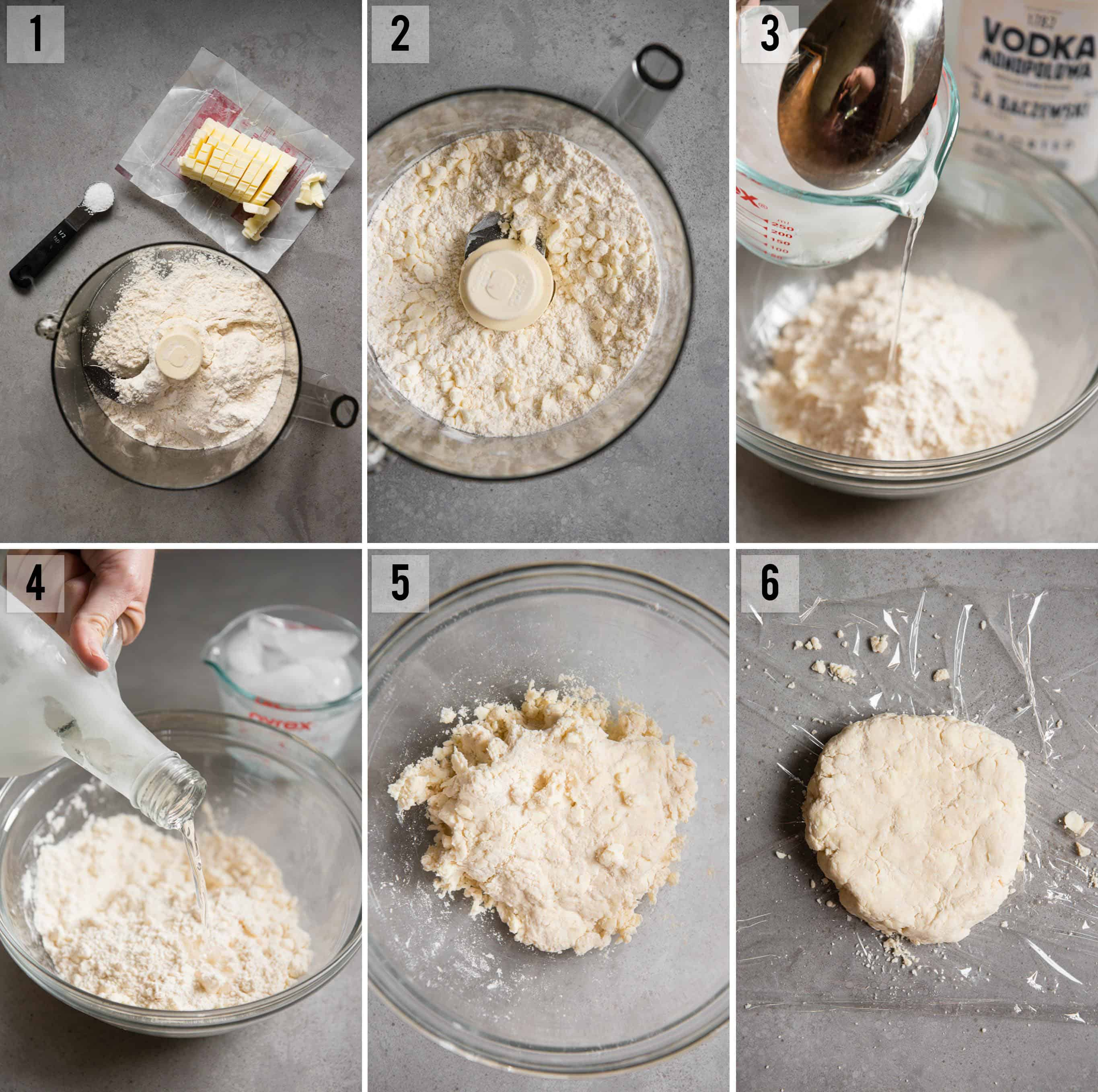 step by step photos of how to make homemade butter pie crust