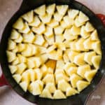 How to arrange the pineapple on a Pineapple Upside Down Cake