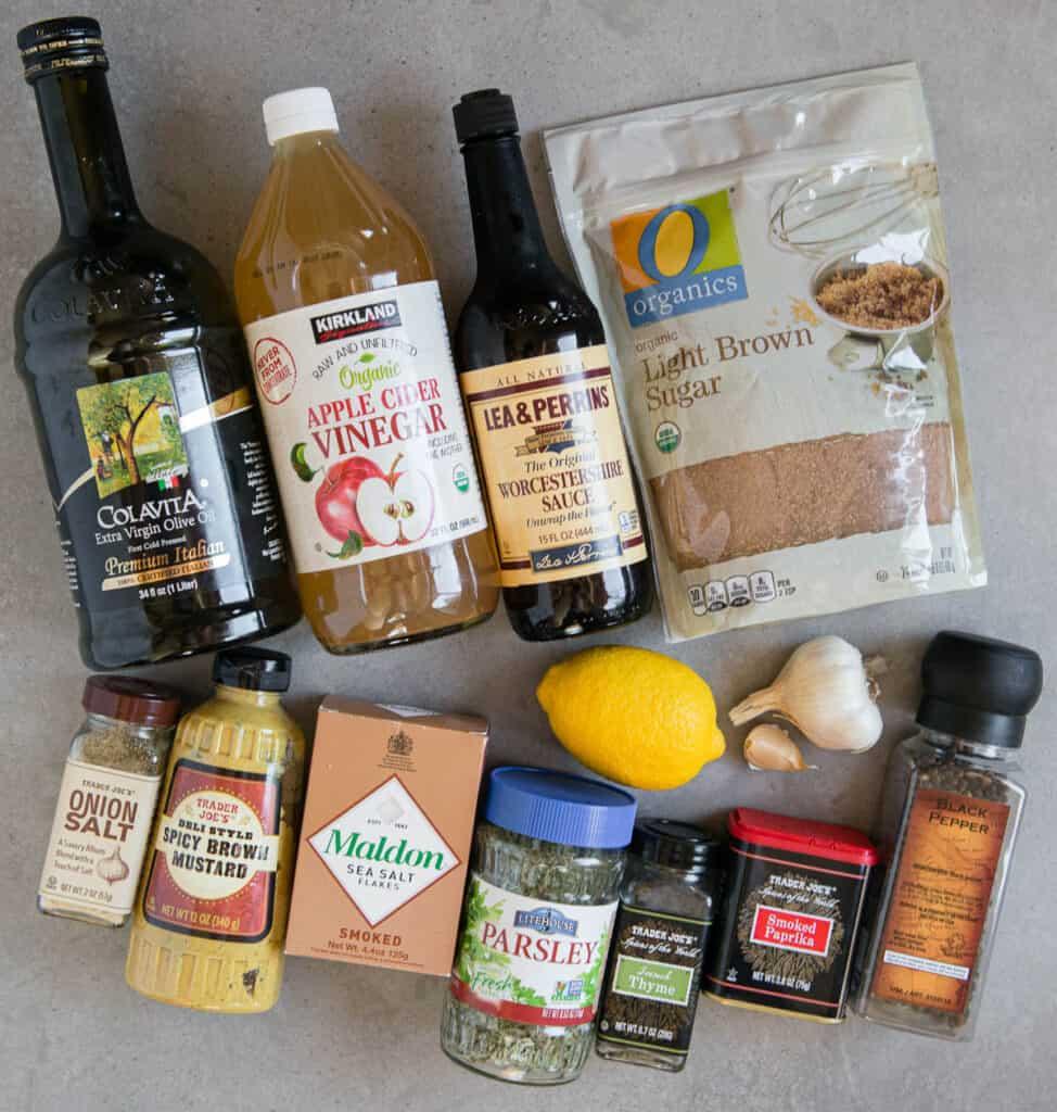 ingredients for homemade Pork Chop Marinade
