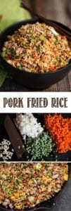 Pork Fried Rice, made with tender pork tenderloin, is a delicious and complete meal your family will love. See how easy it is to make pork fried rice just like a Chinese restaurant in your own kitchen! #porkfriedrice #porktenderloin #dinner