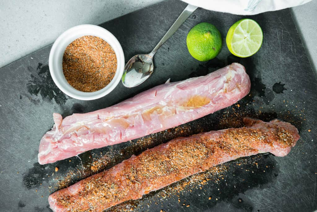 pork tenderloin with dry rub and lime
