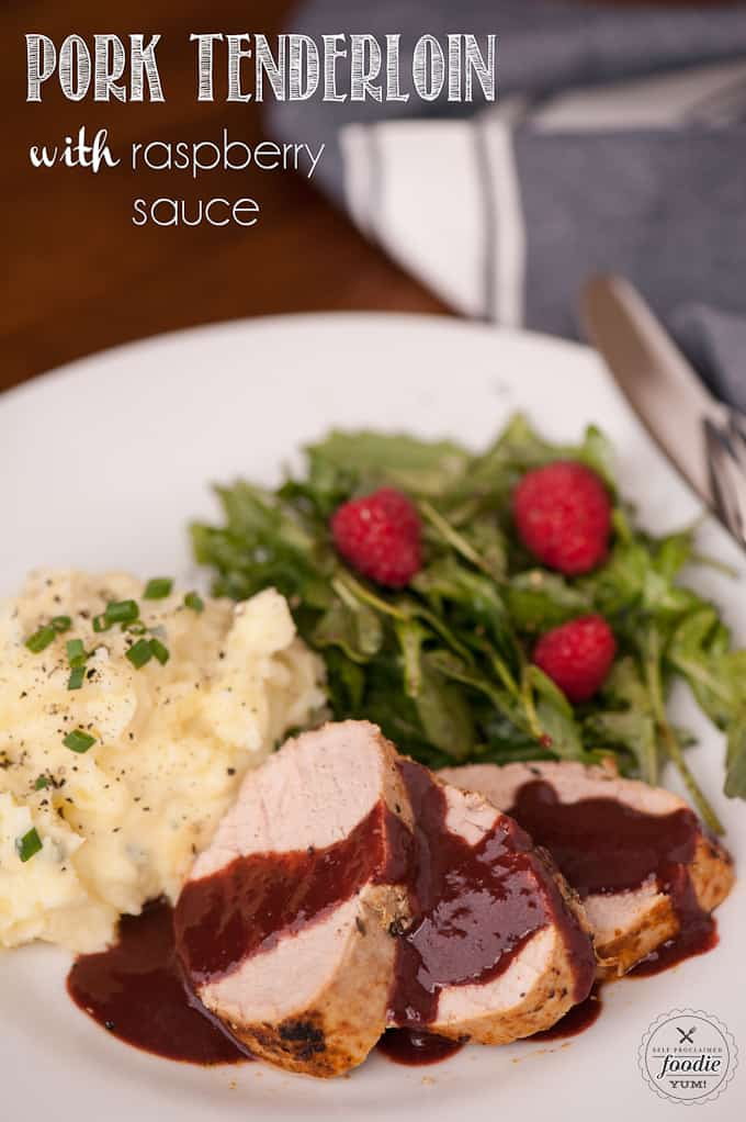 Delight the entire family by making this flavorful and healthy Pork Tenderloin with a savory balsamic Raspberry Sauce for dinner.