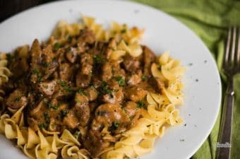 Beef Stroganoff doesn't get much easier than when you make it in your pressure cooker. Succulent, tender pieces of beef smothered in a flavorful mushroom sour cream sauce and served over noodles will satisfy anyone's cravings! This classic beef stroganoff recipe is quick and easy when made in the Instant Pot!