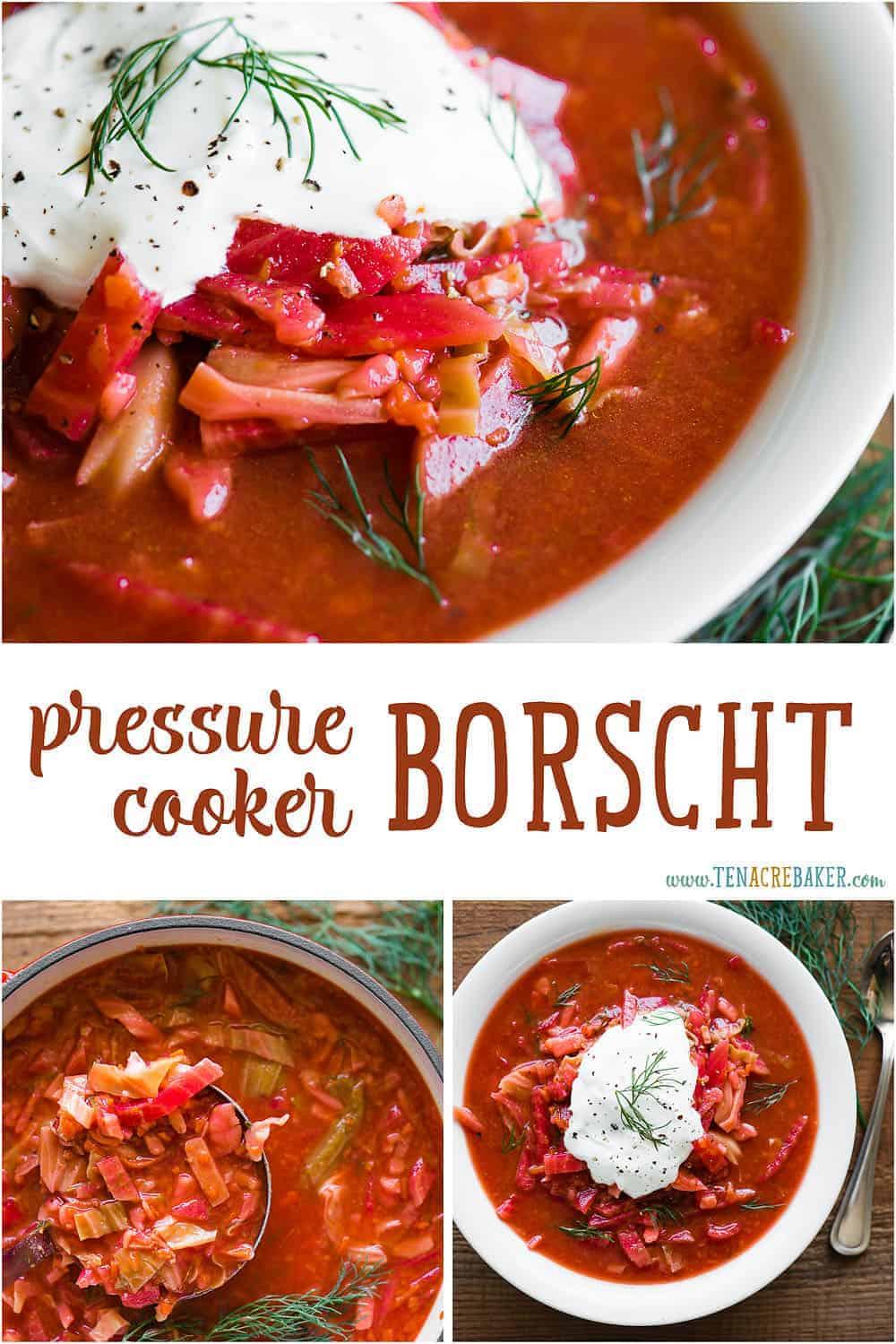 pressure cooker borscht recipe