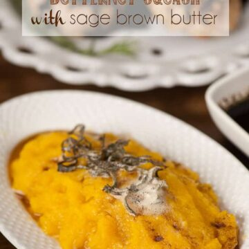pressure cooker butternut squash with sage brown butter