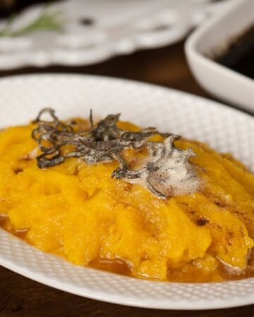 Creamy and healthy Pressure Cooker Butternut Squash with Sage Brown Butter is not only quick and easy to make, but it is the perfect fall season side dish.