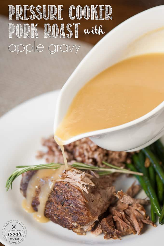 Pressure Cooker Pork Roast with Apple Gravy