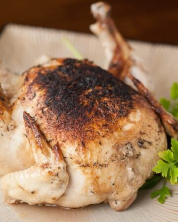 The only way to cook an entire moist and tasty chicken in under thirty minutes while locking in the most flavor is by making a PRESSURE COOKER WHOLE CHICKEN!