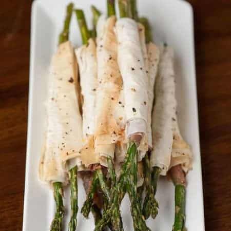 Prosciutto Phyllo Wrapped Asparagus | Self Proclaimed Foodie
