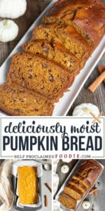deliciously moist pumpkin bread