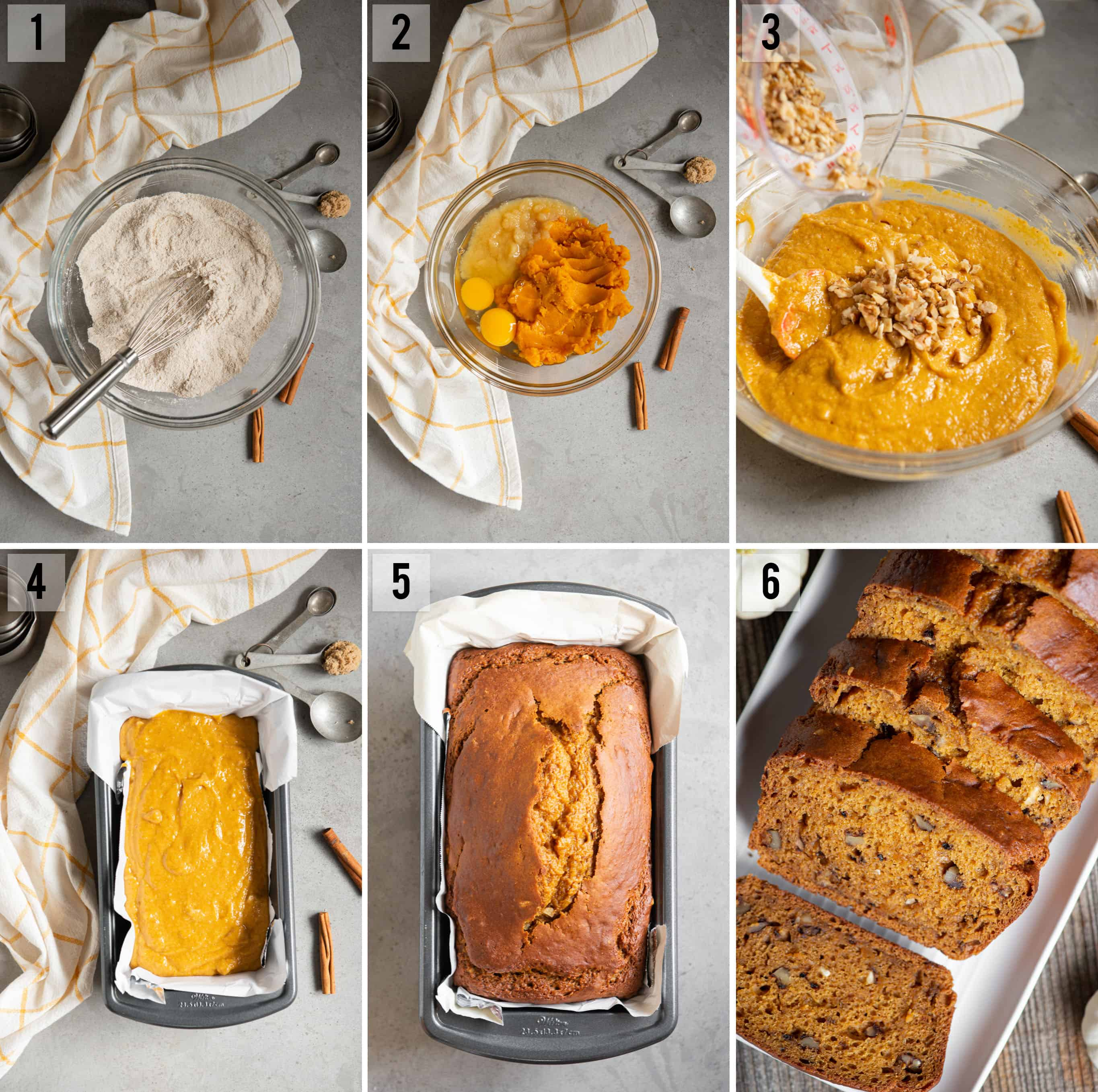 pumpkin bread recipe process photos