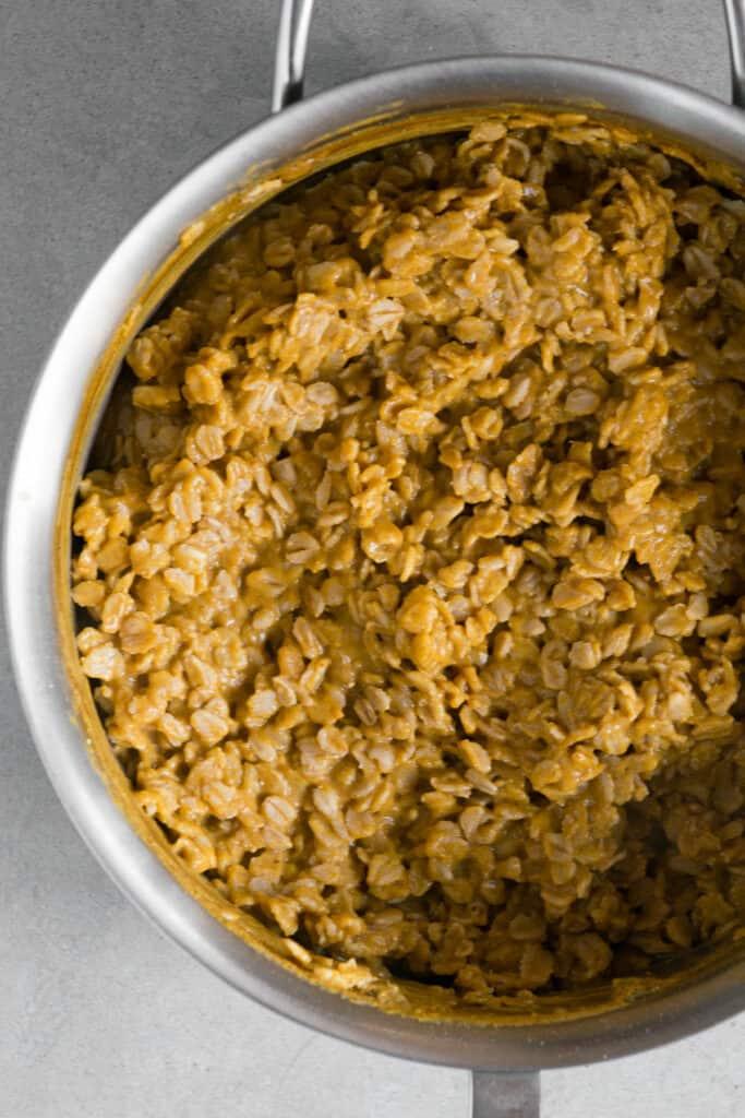 Pumpkin Oatmeal in pot