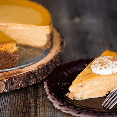 Perfect Pumpkin Pie Cheesecake + Organic Valley Farm Tour