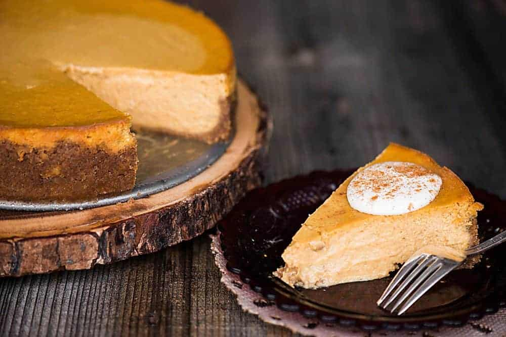 Pumpkin Pie Cheesecake is the perfect fall dessert. Made from scratch using quality ingredients, it is the best pumpkin cheesecake recipe you'll find!