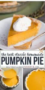 Homemade classic Pumpkin Pie