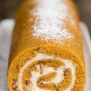 entire Pumpkin Roll where you can see the end